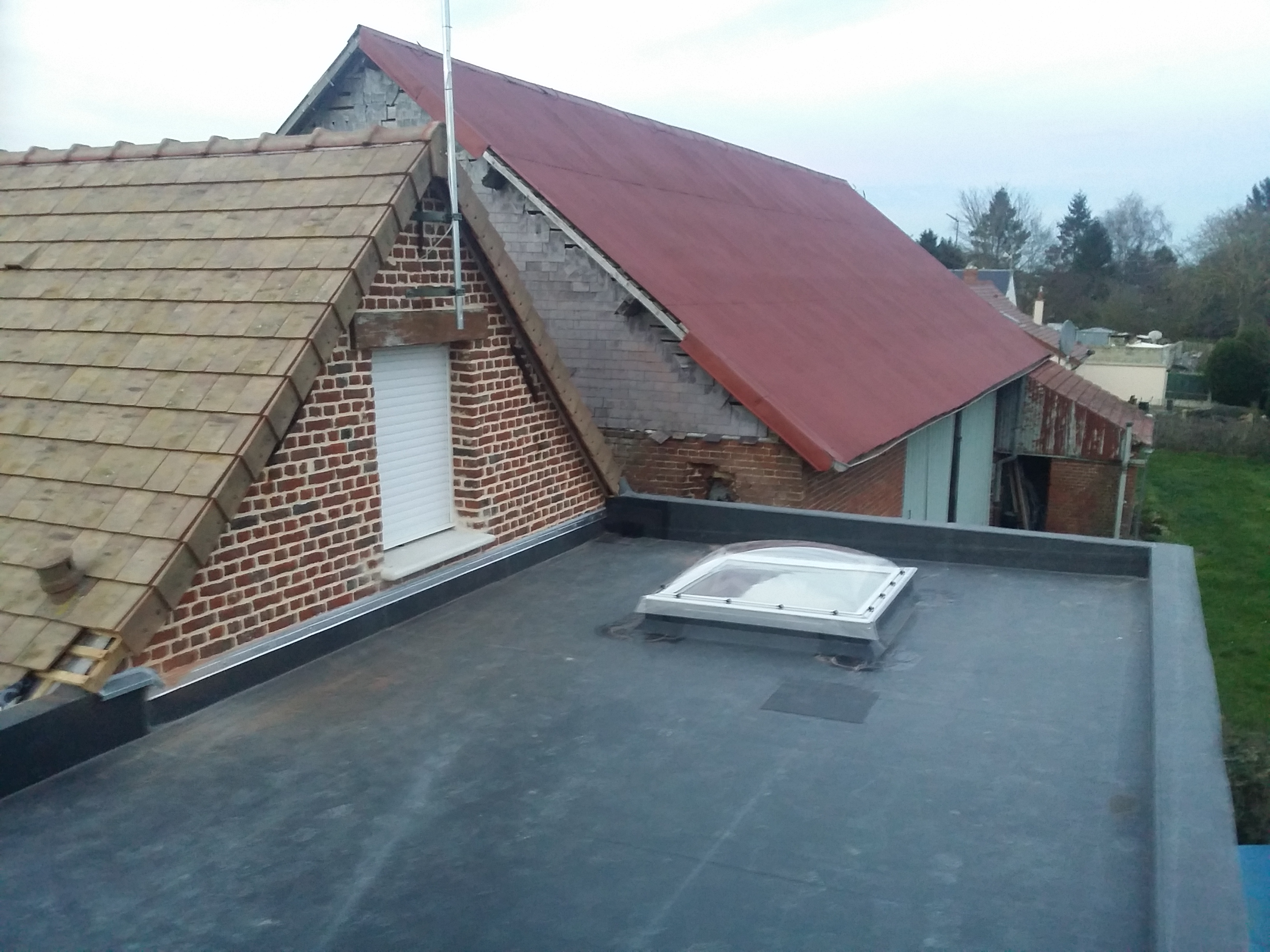 Toiture terrasse epdm 2c2b for La toiture terrasse