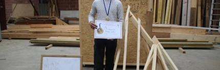 L'apprenti charpentier récompensé par la Région à Bohain-en-Vermandois